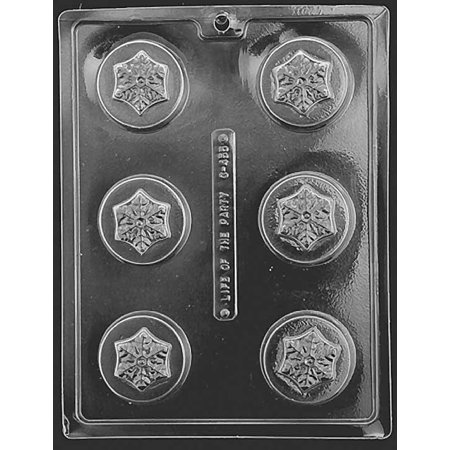 Snowflake Candy (Snowflake Winter Christmas Oreo Cookie Chocolate Mold Candy Mould Soap Party Favor)