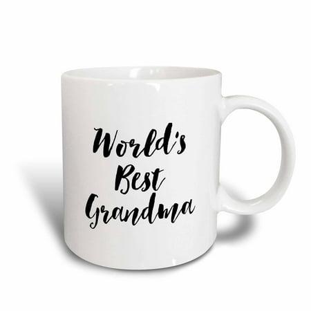 3dRose Phrase - Worlds Best Grandma - Ceramic Mug,