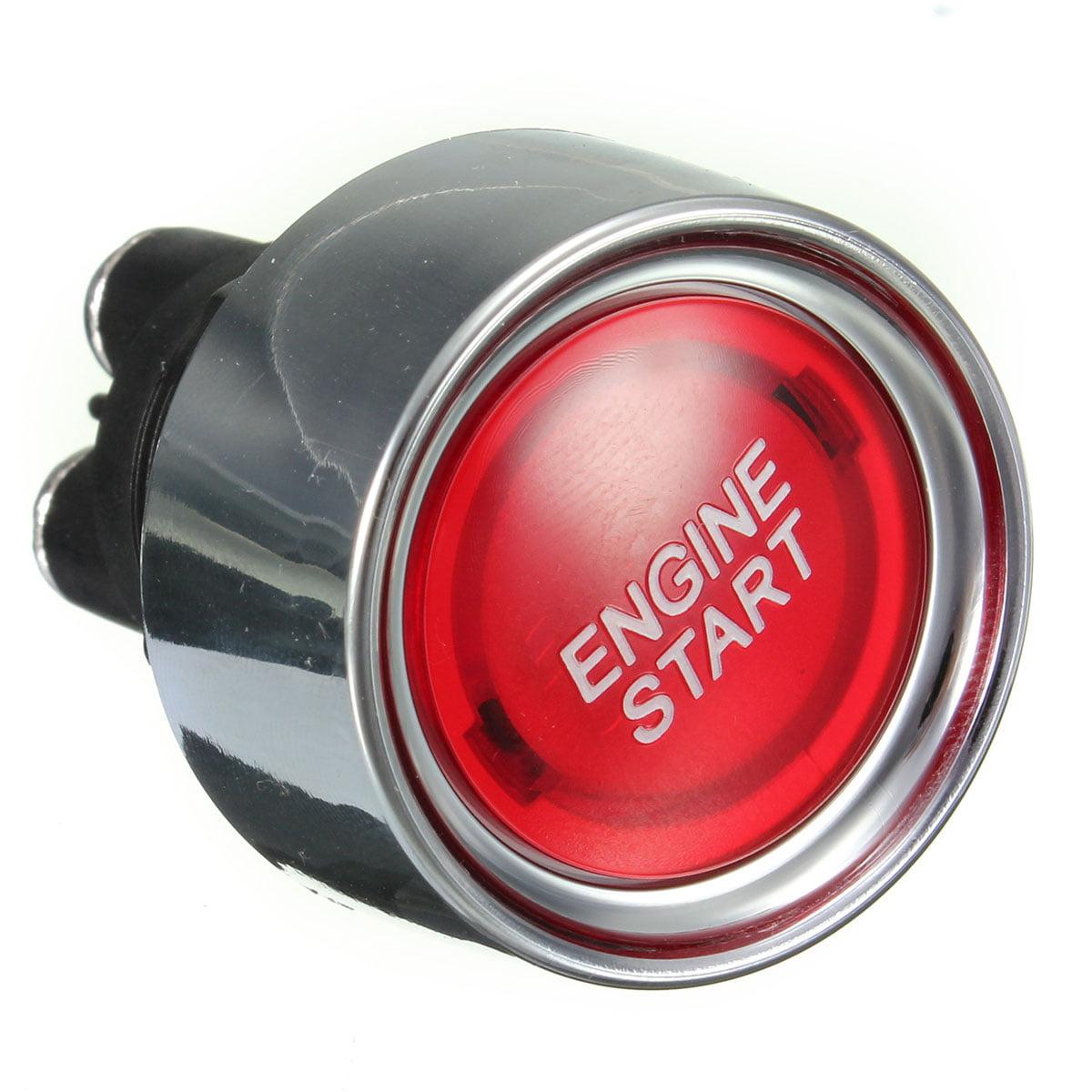 Universal SilverHorse Racing Illuminated Engine Start Button -Red