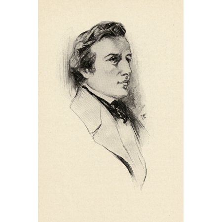 Frdric Fran???ois Chopin 1810-1849 Polish Composer And Outstanding Pianist Portrait By Chase Emerson American Artist 1874-1922 Canvas Art - Ken Welsh  Design Pics (12 x 18)