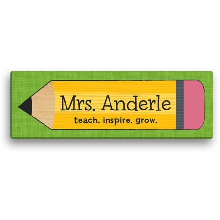 Personalized Teacher Gift Pencil Canvas Available In Multiple Sizes