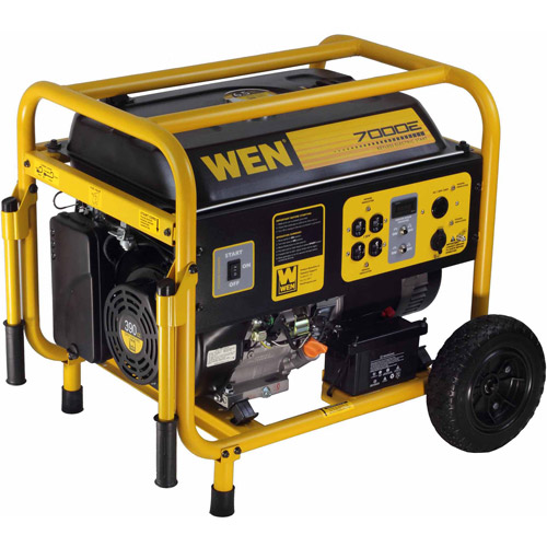WEN 7000W 390cc 13-HP OHV Gas-Powered Portable Generator with Electric Start and Wheel Kit