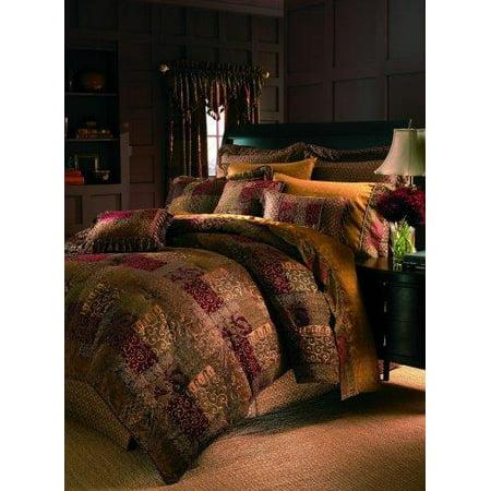 Croscill SCDX6405SET07 Galleria King Comforter Set, (Croscill Galleria Chocolate Oversized Comforter Set King)
