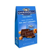 Ghirardelli Dark and Caramel Sea Salt, Chocolate Squares, 5.32 oz., 4 Count