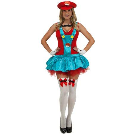 red playful plumber costume red italian plumber costume