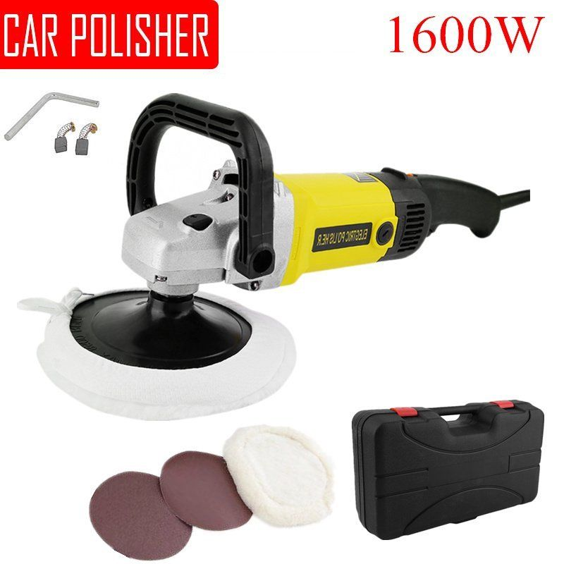 Electric 6 Variable Speed Car Polisher Buffer Waxer Sander Polishing Machine For China Ken With Carry Box 600-3100RPM