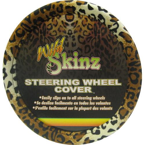Plasticolor Leopard Wild Skinz Steering Wheel Cover
