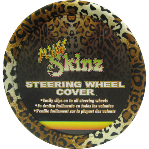 Plasticolor Leopard Wild Skinz Steering Wheel Cover