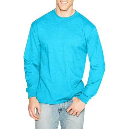 Hanes Men's Premium Beefy-T Long Sleeve T-Shirt, up to (Poker Yellow T-shirt)