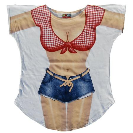 Farmer's Daugther Cover-up  Beach T-Shirt Tee  Sexy Bikini Swimwear Pajama Maternity