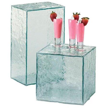 Cal Mil 432-13-43 8 x 13 x 6 in. Faux Glass Riser - Clear - image 1 de 1