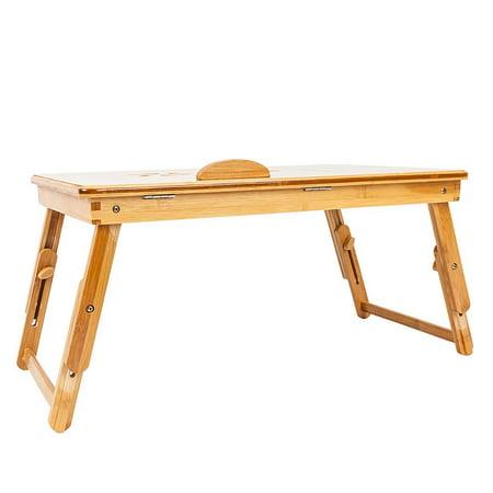 Ktaxon Portable Breakfast Bed Tray Lap Desk Serving Table Foldable Legs Food Dinner US ()