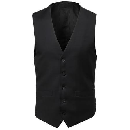 a078c71295a50 FashionOutfit - FashionOutfit Men s Contemporary Classic Fit Stylish  Contrast Vest - Walmart.com