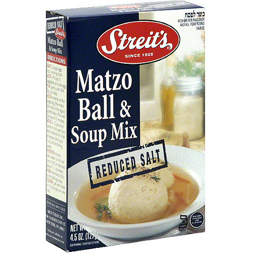 Streits Matzo Ball Soup Mix No Salt, 4.5 oz. (Pack of 12)