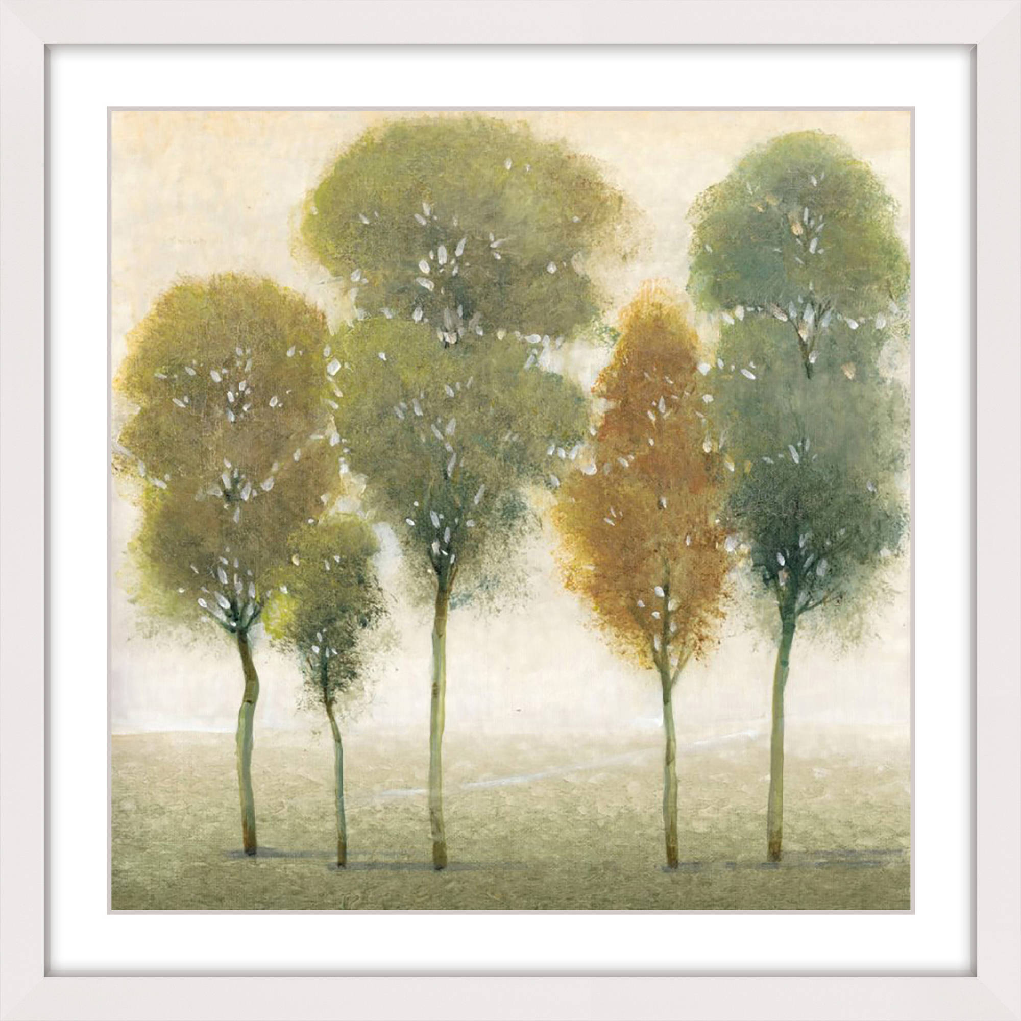 """Marmont Hill """"Beyond the Trees I"""" Framed Painting Print"""