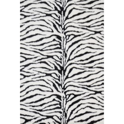 Alexander Home Jungle Zebra Print Rug (5' x 7'6)