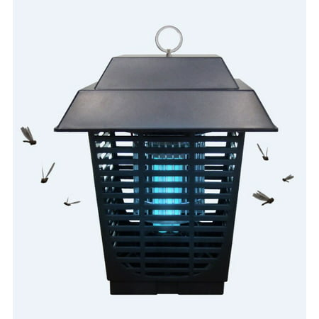 Koramzi Electronic Insect Killer, Bug Zapper, Fly Killer, Mosquito Killer, Built in Insect Trap, Fits in 110v Light Bulb Socket, Perfect for Garden Patio Backyard, 20W ¾ Acre Coverage- GL2A ()