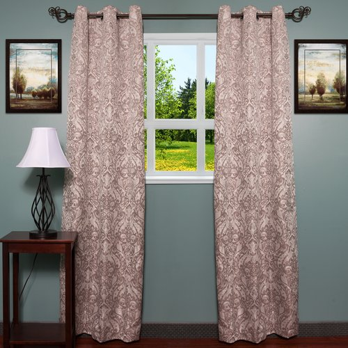 Sweet Home Collection Debby Curtain Panels (Set of 2)