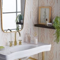 Peach Vintage Palm Peel and Stick Wallpaper by Drew Barrymore Flower Home