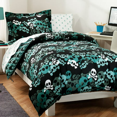 Dream Factory Skulls Bed In A Bag Walmart Com
