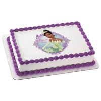 Princess & the Frog Princess Tiana Personalized Edible Frosting Image Cake Topper