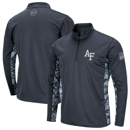 Air Force Falcons Colosseum Youth OHT Military Appreciation Digital Camo Quarter-Zip Pullover Jacket - Charcoal thumbnail