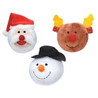 Holiday Dog Toys Snowball Gang Christmas - Choose Snowman Santa or Reindeer Ball (Full Set - All 3)
