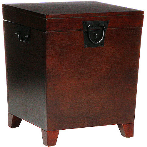 Wonderful Pyramid Trunk End Table, Multiple Finishes