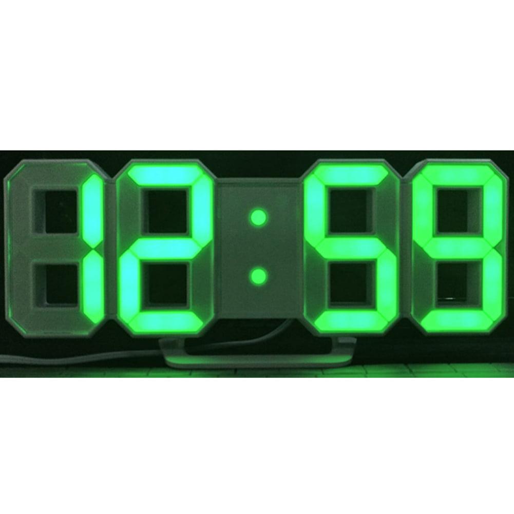 Modern Digital LED Wall Clock Table Desk Night Electric ...