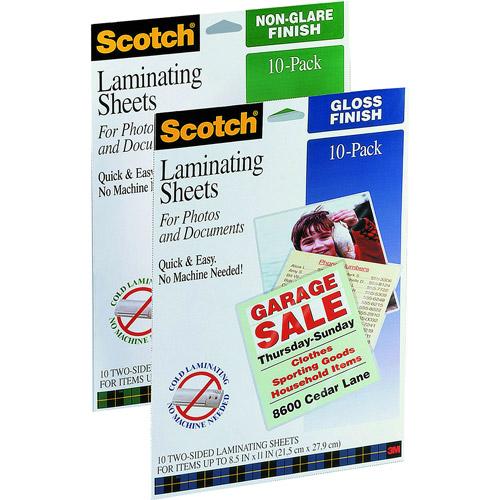 Scotch Self Laminating Sheets, 10pk