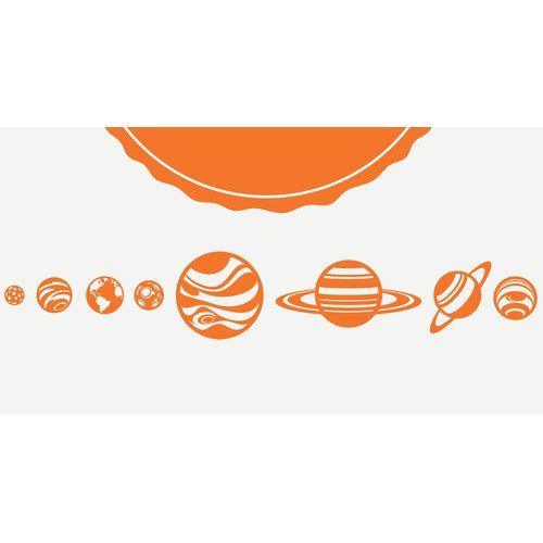 Zoomie Kids Kohr Planets and Sun Wall Decal