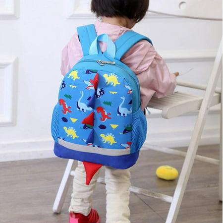 Mgaxyff Cute Cartoon Comfortable Dinosaur Pattern Backpack Schoolbag f