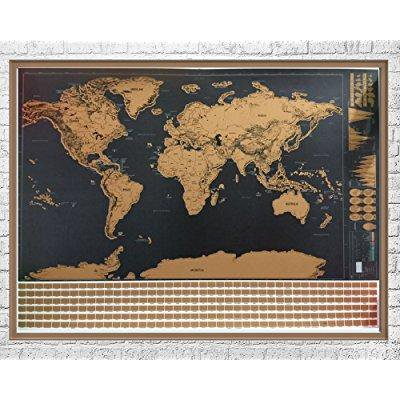 Scratch off world map with flags and us states travel tracker map scratch off world map with flags and us states travel tracker map poster scratchable world map gumiabroncs Images