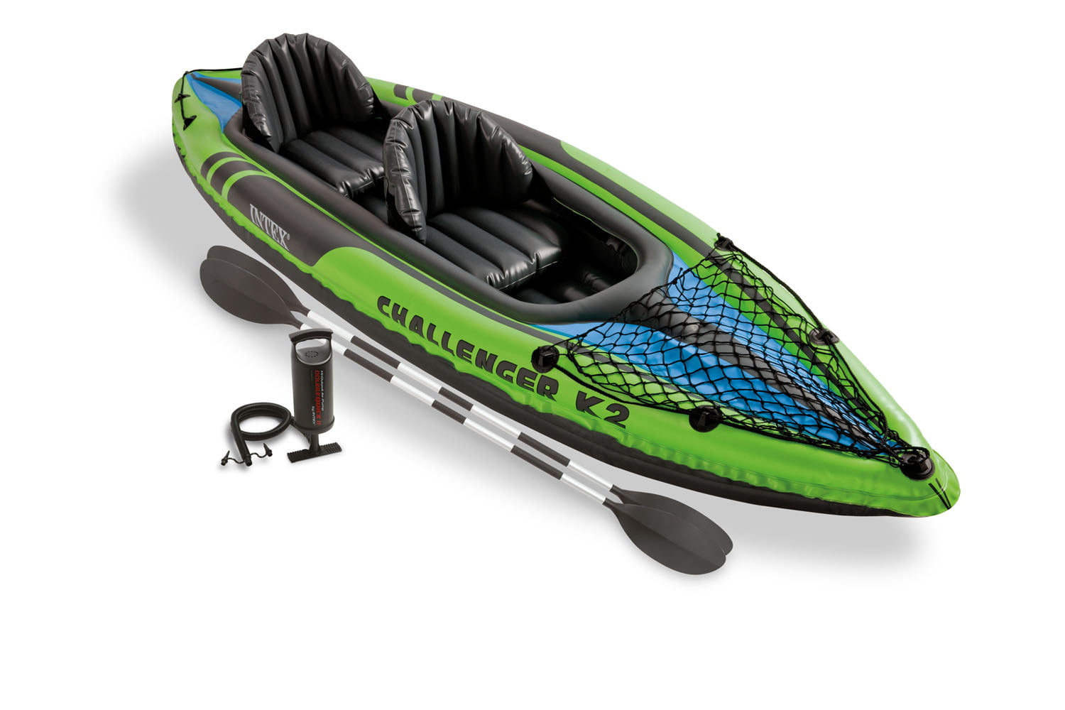 Intex Challenger K2 Inflatable Kayak with Oars and Hand Pump by Intex Recreation Corp.