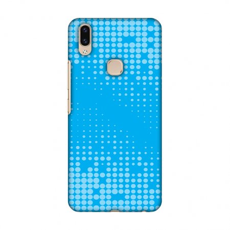Vivo V9 Case - Carbon Fibre Redux Aqua Blue 12, Hard Plastic Back Cover, Slim Profile Cute Printed Designer Snap on Case with Screen Cleaning (Best Ar 15 Cleaning Kit Review)