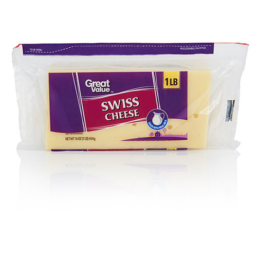 Great Value Swiss Cheese Block, 16 oz