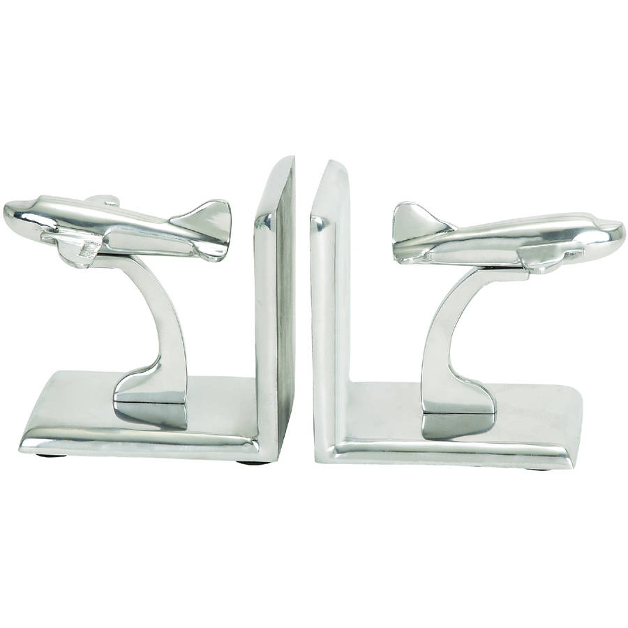 Decmode Aluminum Bookend Pair, Multi Color by DecMode