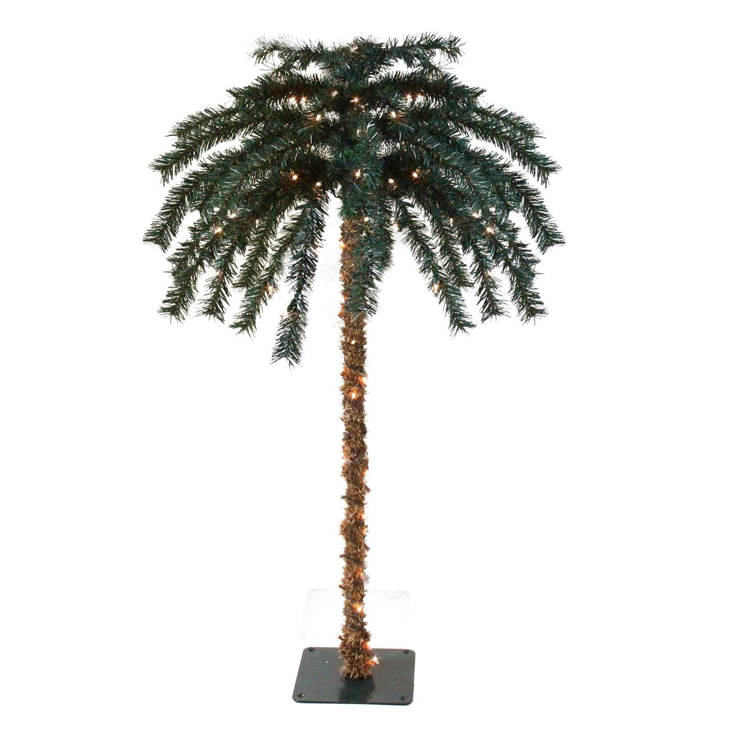 6 39 pre lit tropical outdoor summer patio artificial palm tree clear lights. Black Bedroom Furniture Sets. Home Design Ideas
