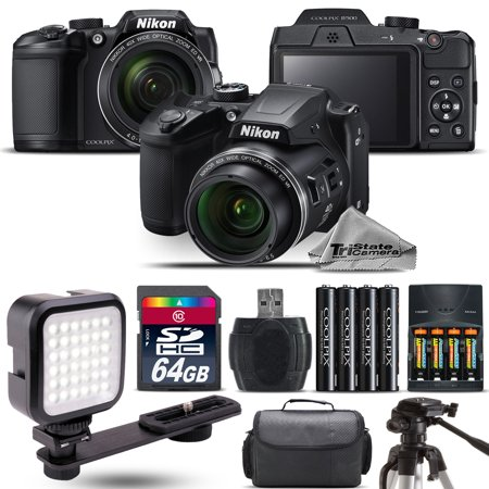 Nikon COOLPIX B500 Digital Camera 40x Optical Zoom + LED + Case -64GB Kit Bundle