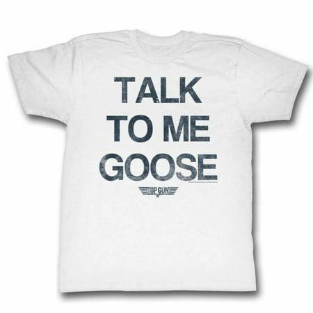 Top Gun Movies Talk Goose Adult Short Sleeve T Shirt (Halloween 9 Movie Talk)