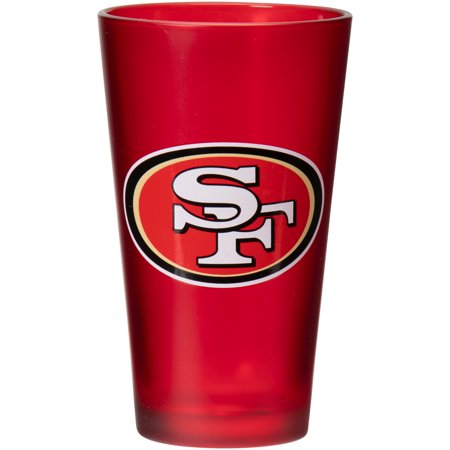 San Francisco 49ers Glass - San Francisco 49ers 16 oz. Team Color Frosted Pint Glass - No Size