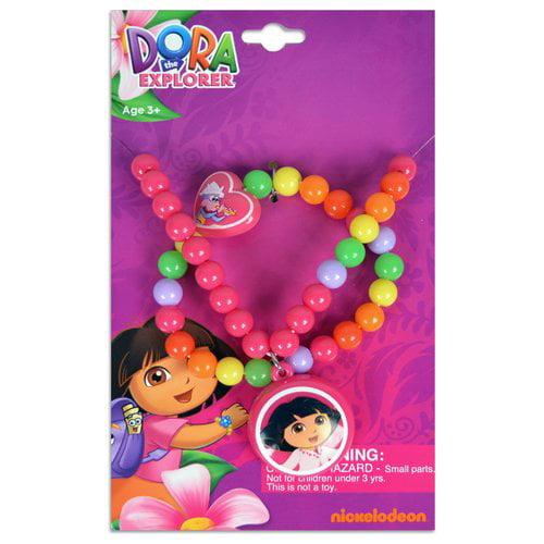 Dora the Explorer Necklace and Bracelet Set
