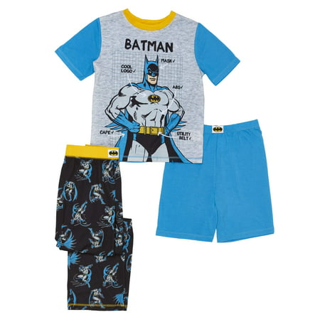 Boys' Batman 3 Piece Pajama Sleep Set (Little Boy & Big Boy)