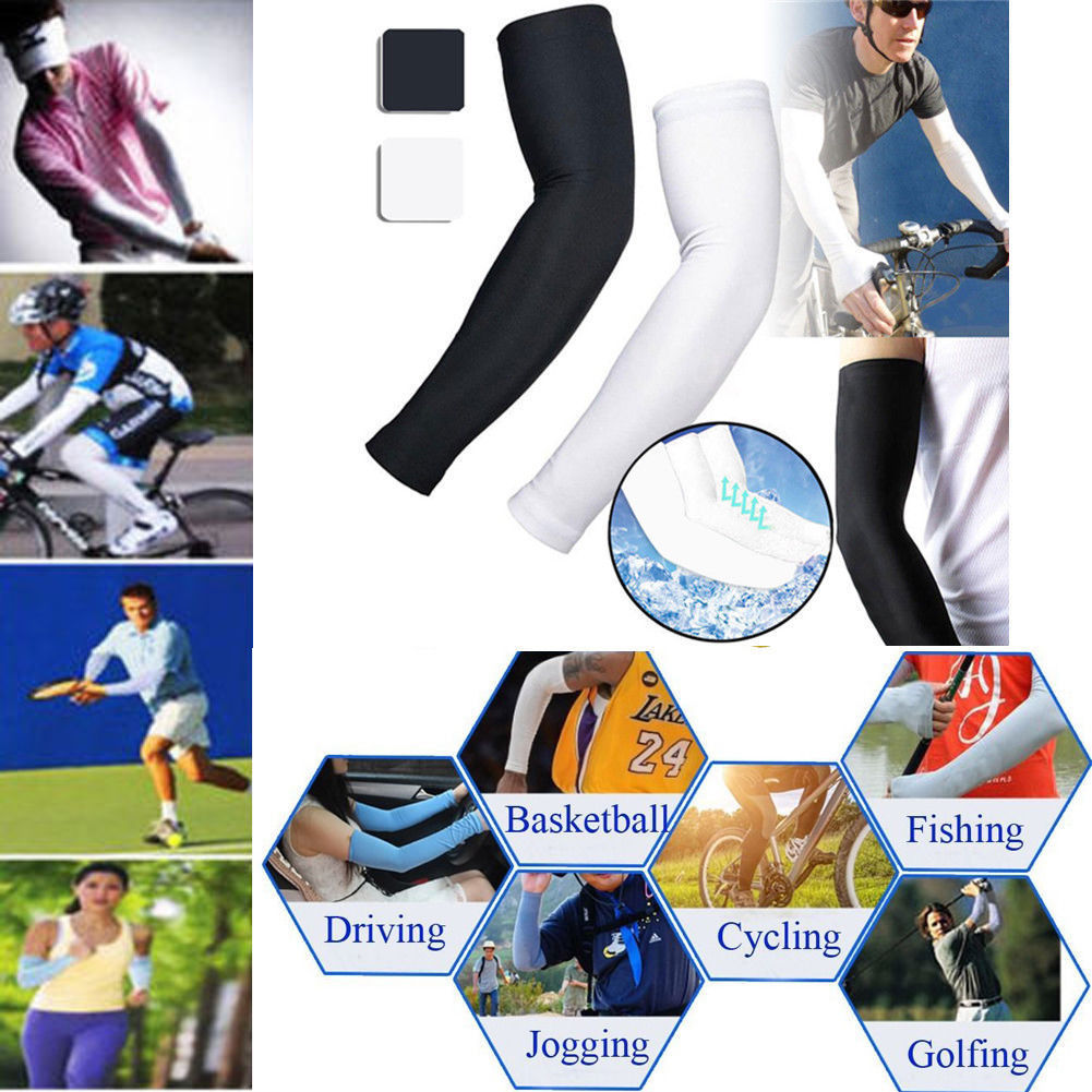 UV Protection Arm Warmers Cooling Compression Sunscreen SPF Sleeves Cover Skin for Men Women Youth Athletic Outdoors Activities Baseball Basketball Cycling Driving YOOBNG Sports Arm Sleeve