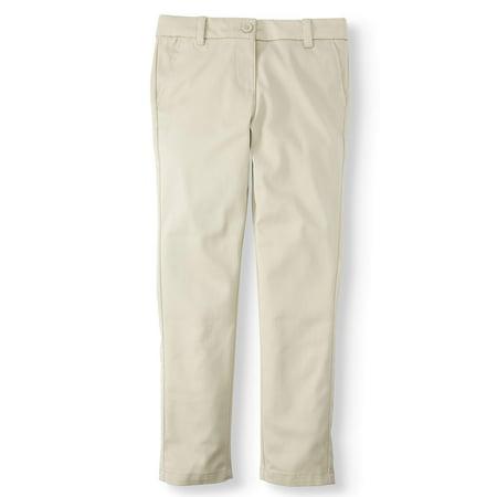 Cool Back To School Clothes (Wonder Nation Girls Plus School Uniform Stretch Twill Skinny Pants)