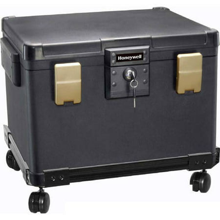 Honeywell 1.06 cu. ft. Molded Waterproof 1-Hour Fire Chest with Key Lock,