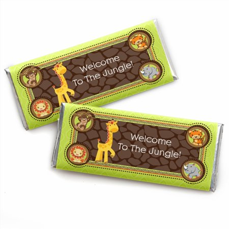 Funfari - Fun Safari Jungle - Candy Bar Wrappers Baby Shower or Birthday Party Favors - Set of 24](Party City Safari Baby Shower)
