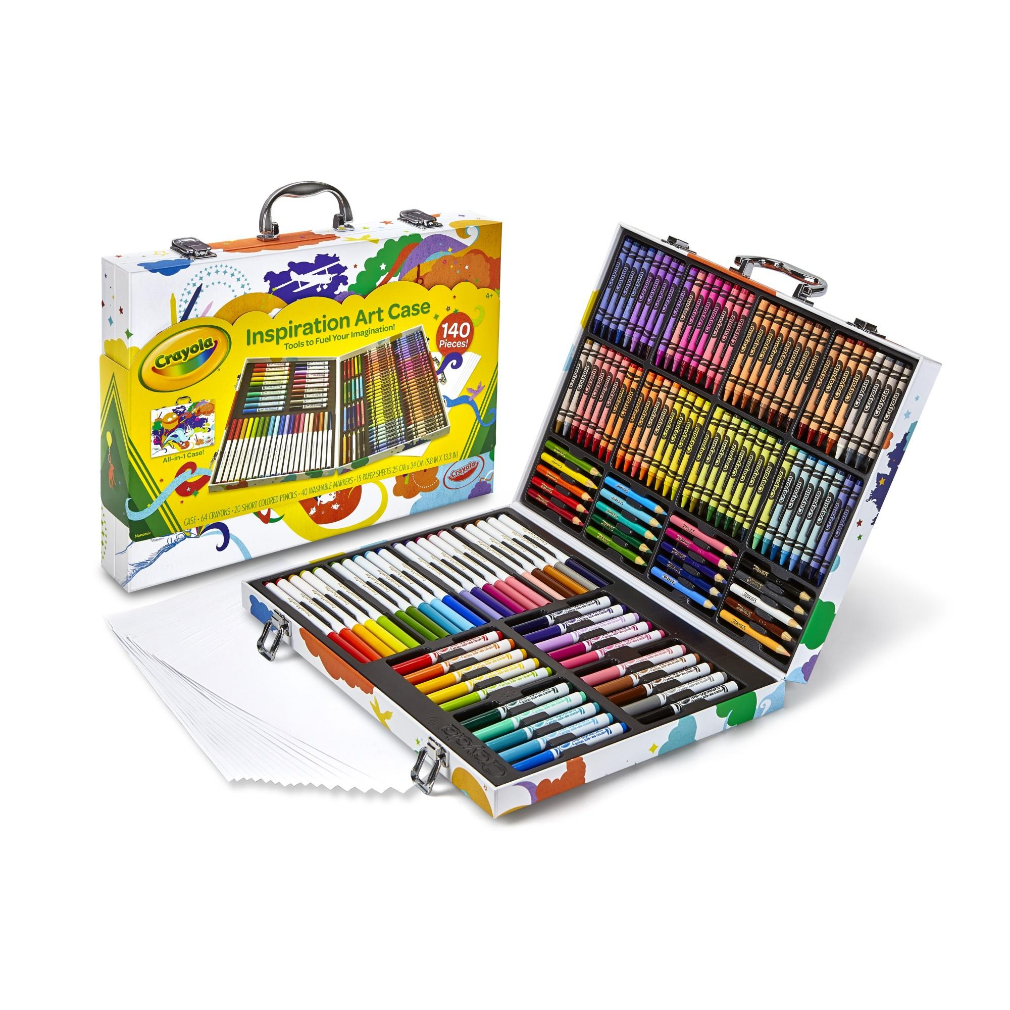 Crayola Inspiration Art Kit, 140 Pieces, Includes Crayons, Colored Pencils, Washable Markers and More