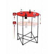 Picnic Plus PSM-104R Scrimmage Tailgate Table - Red