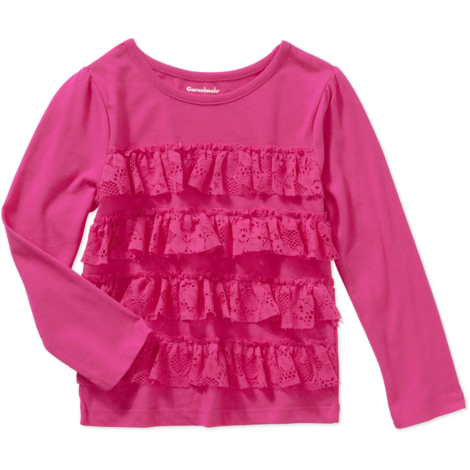 Garanimals Baby Toddler Girls' Long Sleeve Lace Tiered Tee